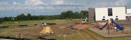 Natural Playground Construction Underway