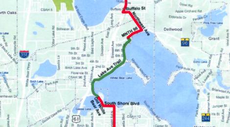 U.S. Bicycle Route 41 coming through White Bear Lake?