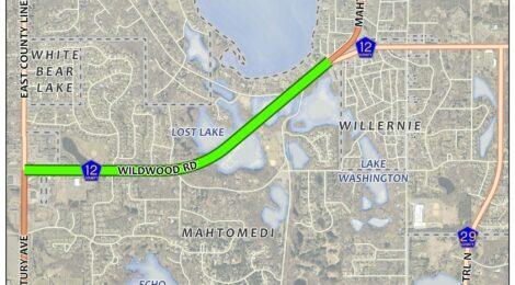 Map of the Washington County Highway 12/Wildwood Project Area
